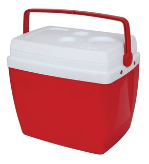 Caixa Térmica 34 Litros Com Alça E Porta Copos Cooler