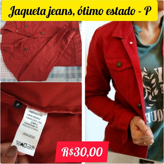 Jaqueta Jeans - Laranja Queimado