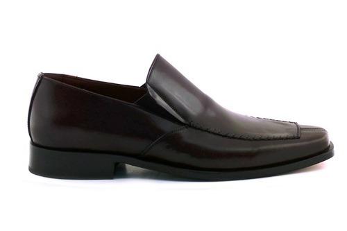 Zapato Hombre Vestir Suela Cuero Negro Briganti - Hccz00471