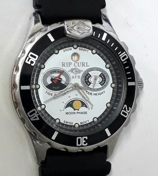 Relógio Rip Curl Classic Tidemaster Diver 200m Tábua Da Maré