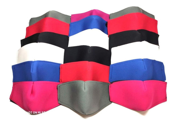 Cubrebocas Mayoreo Neopreno Lote 20 Pzs Mascarilla Colores