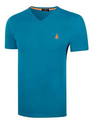 Playera Polo Club 8611 Hombre Talla Chi-xgd Color Azul Pk-o