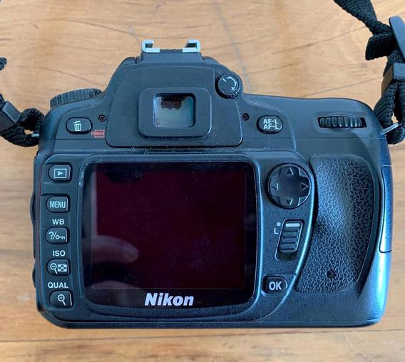 Kit D80 Nikon + Lente 55-200mm + Monopé + Tripé.