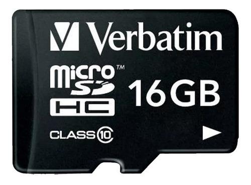 Memoria Micro Sd 16 Gb Verbatim Clase 10 Celulares 44082