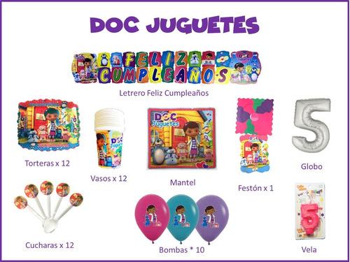Imagen 1 de 1 de Kit Decoración Celebra Encasa Fiesta Cumpleaños Doc Juguetes