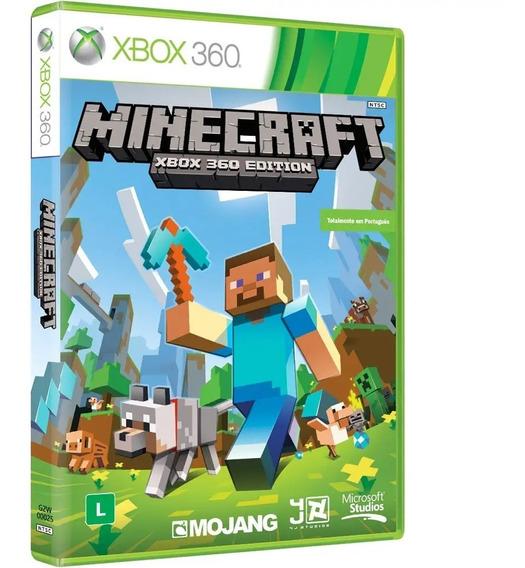 Minecraft Xbox 360 Mídia Física Novo 100% Em Português