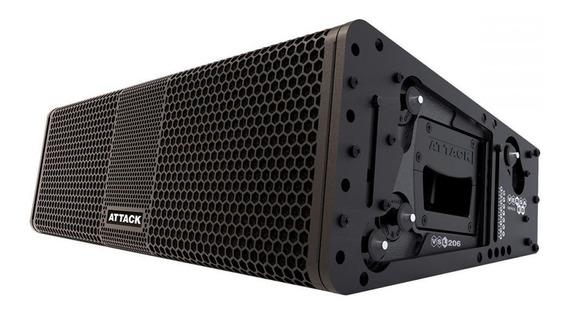 Caixa De Som Amplificada Attack Line Array Versa Red Vsl 206