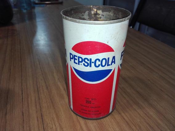 Lata De Pepsi Cola Antigua De Hojalata Dura Retro Gusx