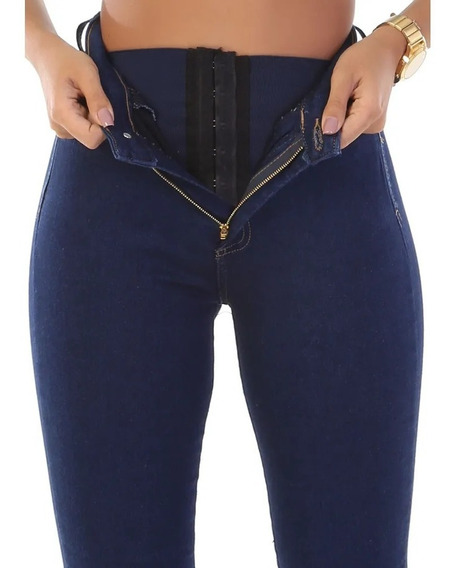 Calça Jeans Feminina Super Lipo Skinny Cintura Alta