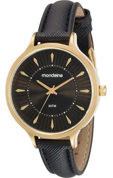 Relógio Mondaine Dourado Couro 53602lpmvdh3