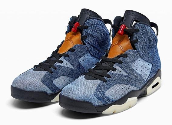 Air Jordan 6 Vi Washed Denim Envio Inmediato Sneakershark
