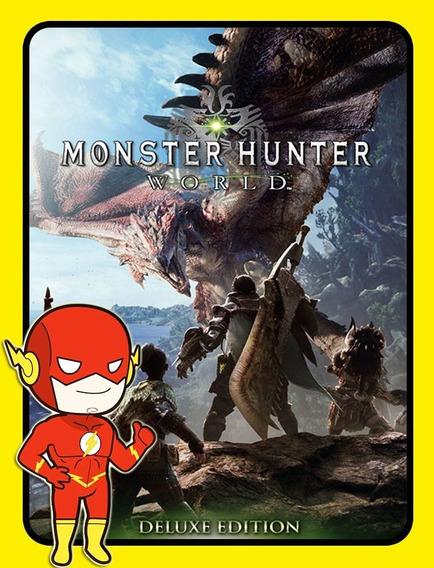 Monster Hunter World Deluxe Pc - Steam Key (envio Flash)