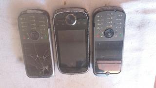 Lote De 3 Celulares Motorola Para Pecas (ler Anuncio)