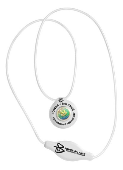 Colar De Silicone Power Balance Branco - Original