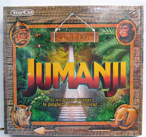 Jumanji Popular Juego De Mesa De Pelicula!! Original Toyco