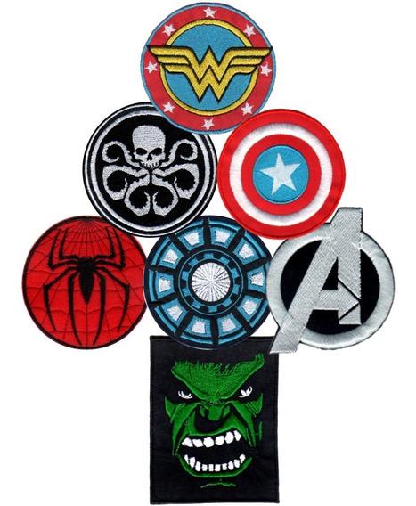 Parche Bordado Capitán América Iron Man Spiderman X 1