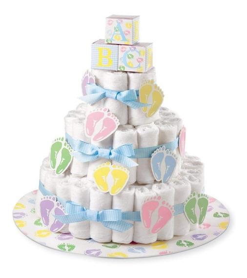 Jgo Base Y Listones Decorativos P/adornar Pastel De Pañal