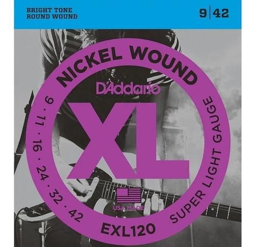 Encordoamento Daddario Guitarra 09 Super Light Nickel Wound