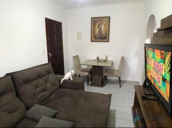 Apartamento Com 1 Dormitório Uma Quadra Da Praia À Venda Por R$ 130.000 - Ocian - Praia Grande/sp - Ap3150