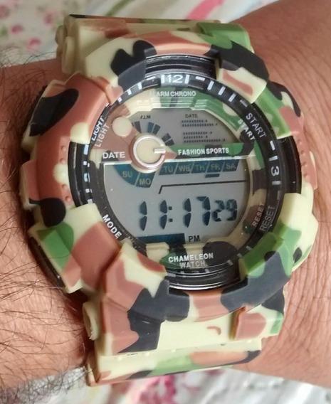 Relógio Militar Camuflado Exército Barato