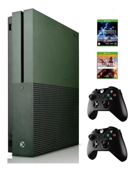 Xbox One S 1tb 4k C/ 2 Controles Wireless + 2 Jogos