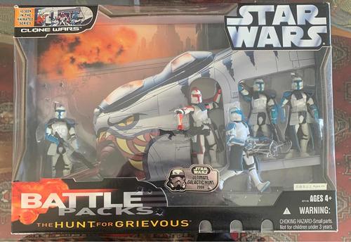 Star Wars Battlepacks The Hunt For Grievous 3.75 Hasbro Nvo