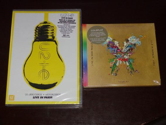 2 Dvd 2 Cd Coldplay Live Sao Paulo Argentina U2 Live Paris