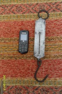 Antigua Balanza Pocket 40 Kg Romana De Colgar Funciona
