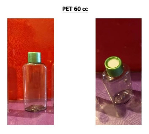 Imagen 1 de 1 de Envase Frasco De Pet Cristal Difusor Aromático De 60 Cc X5
