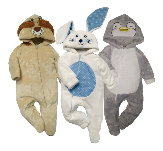 Pack 3 Mamelucos León, Conejo, Pinguino A Precio De 2