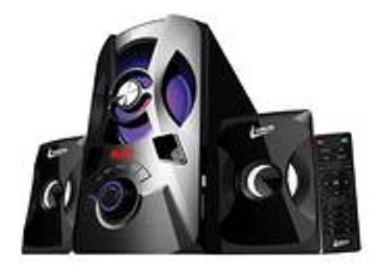 Radio Black Power Sound System 2.1 Leadership Cx-1476