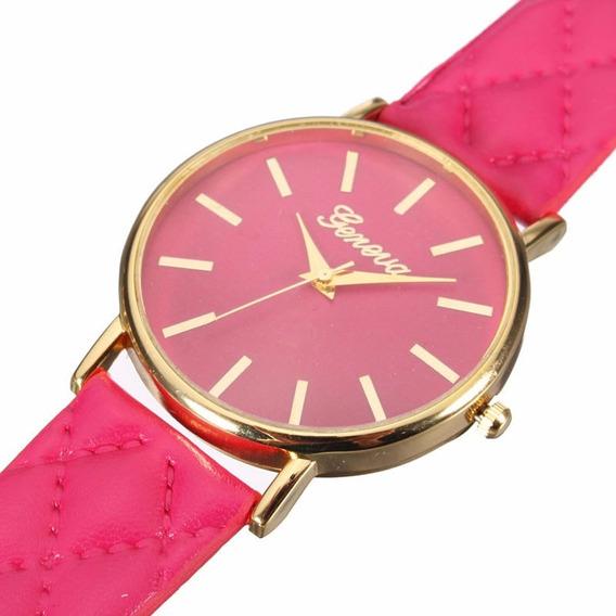Relógio De Pulso Feminino Rosa Luxo Com Caixa De Presente
