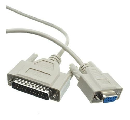 Imagen 1 de 3 de Cable Null Modem Db9 A Db25 Impresora H-m (319256)