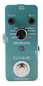 Pedal Digital Reverb 9 Tipos - Cuvave True Bypass - Guitarra