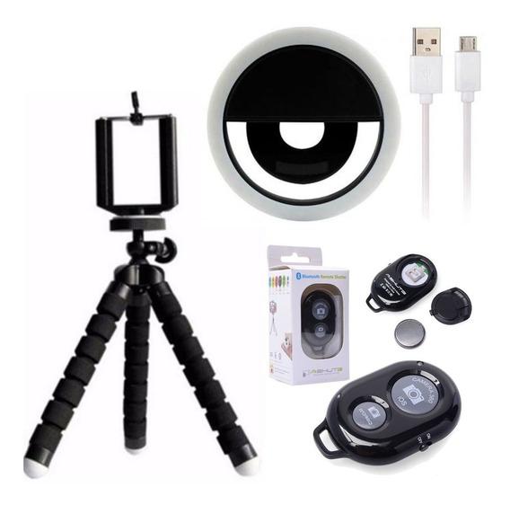 Kit Youtuber Mini Tripé Ring Light Anel De Led Luz Selfie