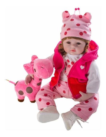 Boneca Bebe Reborn Laura Baby Valentina Shiny Toys