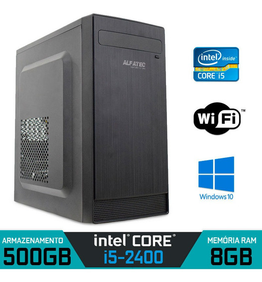 Computador Intel Core I5-2400 Ram 8gb Hd 500gb Wifi Win 10