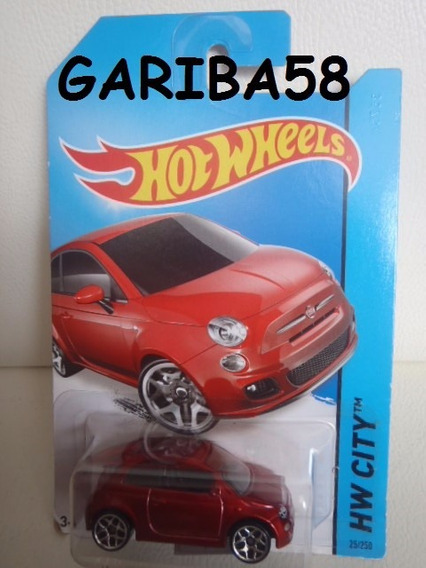 R$20 No Lote Hot Wheels Fiat 500 2014 #25 City Srs Gariba58