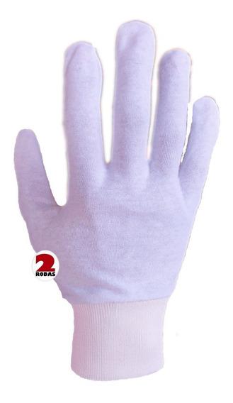 Luvas Algodao Kit 10 Prs Alergicos Antiestatica