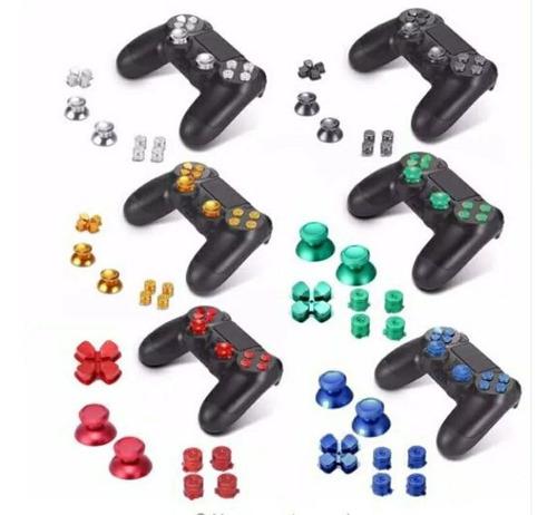 Imagem 1 de 4 de Kit Botões Alumínio Playstation 4