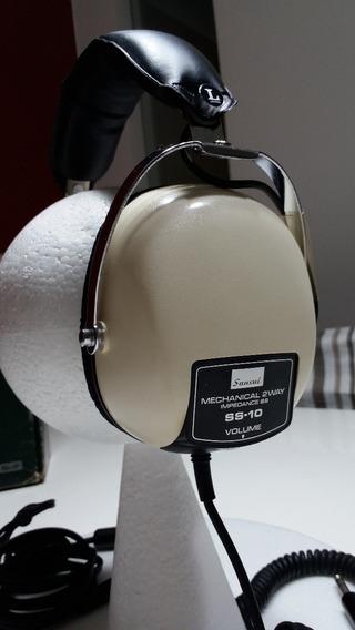 Sansui Stereo Headphones Ss 10 Mechanical 2 Way Vintage