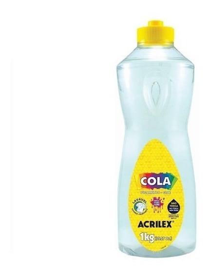 Cola Transparente 1kg 02801 - Acrilex 1 Litro