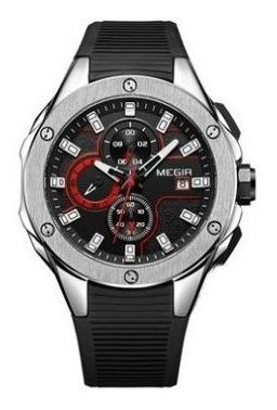 #801 Relógio Megir Ponteiros Funcionais Original 2053g