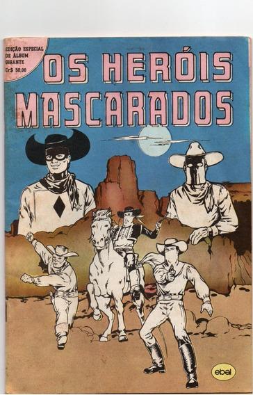 Álbum Gigante (os Heróis Mascarados) - Bom Estado- F. Grátis