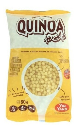 Imagen 1 de 4 de Quinoa Inflada Pop Yin Yang De 80gr