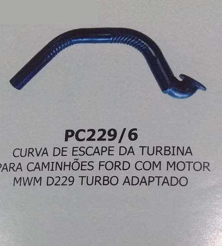 Curva Saida De Escape Turbo Adaptado Caminhão Ford Mwm 229/6