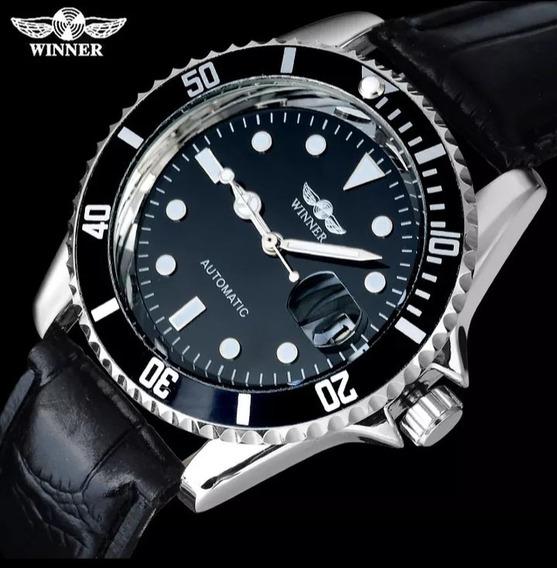 Relógio Masculino Original Couro Barato Pronta Entrega C.97