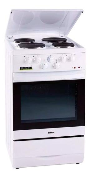 Cocina Eléctrica Bram Metal 4 Hc Tapa/timer 23010/6 Jarse Mm