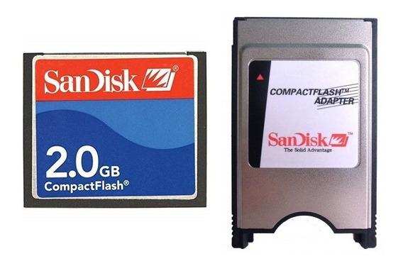 Memoria Compact Flash 2gb Sandisk Cf + Adaptador Pcmcia