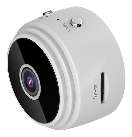 Minic?mera Spy Wifi Hd 1080p Lente ?ng. Amplo Vis?o Noturna